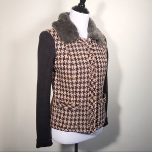 CAbi Houndstooth Mixer Jacket